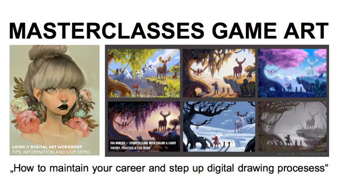 Masterclasse Game Art Digital Artists Lois van Baarle und Iva Mikles im SAE Institute Hamburg