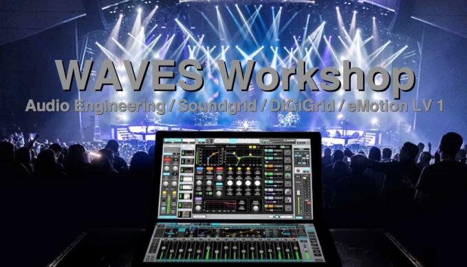 WAVES, Workshop, Audio Engineering, Soundgrid, DiGiGrid, eMotion LV 1, Studio, Producer, SAE Hamburg, SAE Institute, United Brands, Florian Herkert, Tonstudio, Musik, Mischpult, Live, FOH