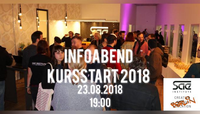 SAE Berlin - INFOABEND: Kursstart September 2018