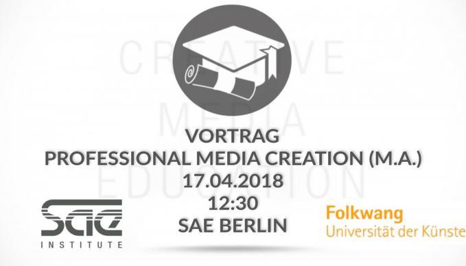 Professional Media Creation (M.A.)