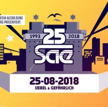25 Jahre SAE Institute in Hamburg, Sleepwalker, Mirko Machine, Mr Schnabel, Nico Suave, Redchild, Fünf Sterne deluxe, Soundsystem, Party