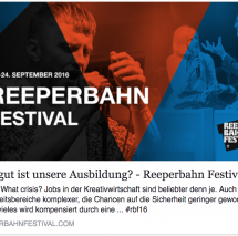 SAE auf dem Reeperbahnfestival mit Absolvent Bernd Burgdorf (Pink, Green Day, The BossHoss, Tom Waits, Kelly Osbourne, uvvm.)