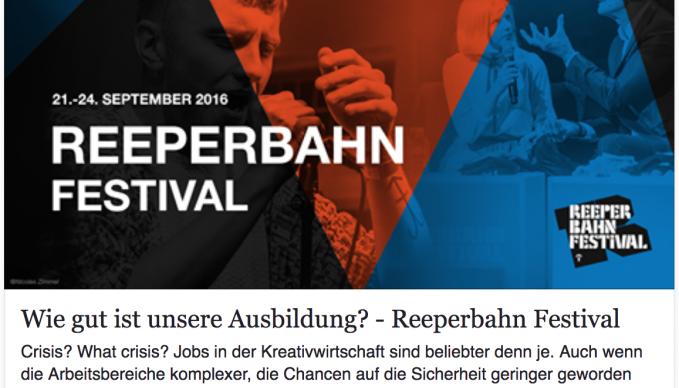 SAE auf dem Reeperbahnfestival mit Absolvent Bernd Burgdorf (Pink, Green Day, The BossHoss, Tom Waits, Kelly Osbourne, uvvm.)