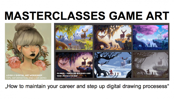 Masterclasse Game Art Digital Artists Lois van Baarle und Iva Mikles im SAE Institute Hamburg